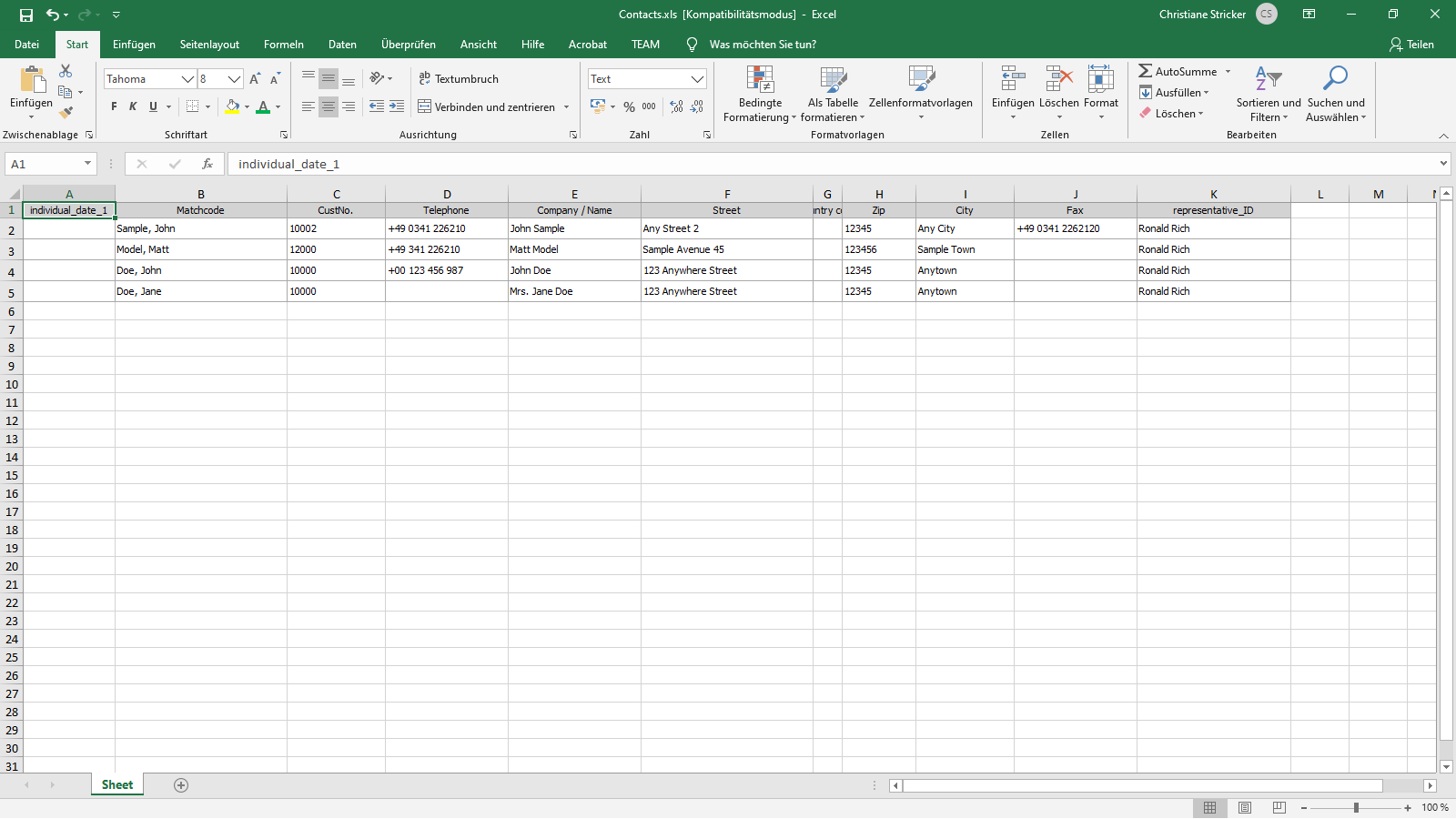 ingenious software contacts liestview excel export