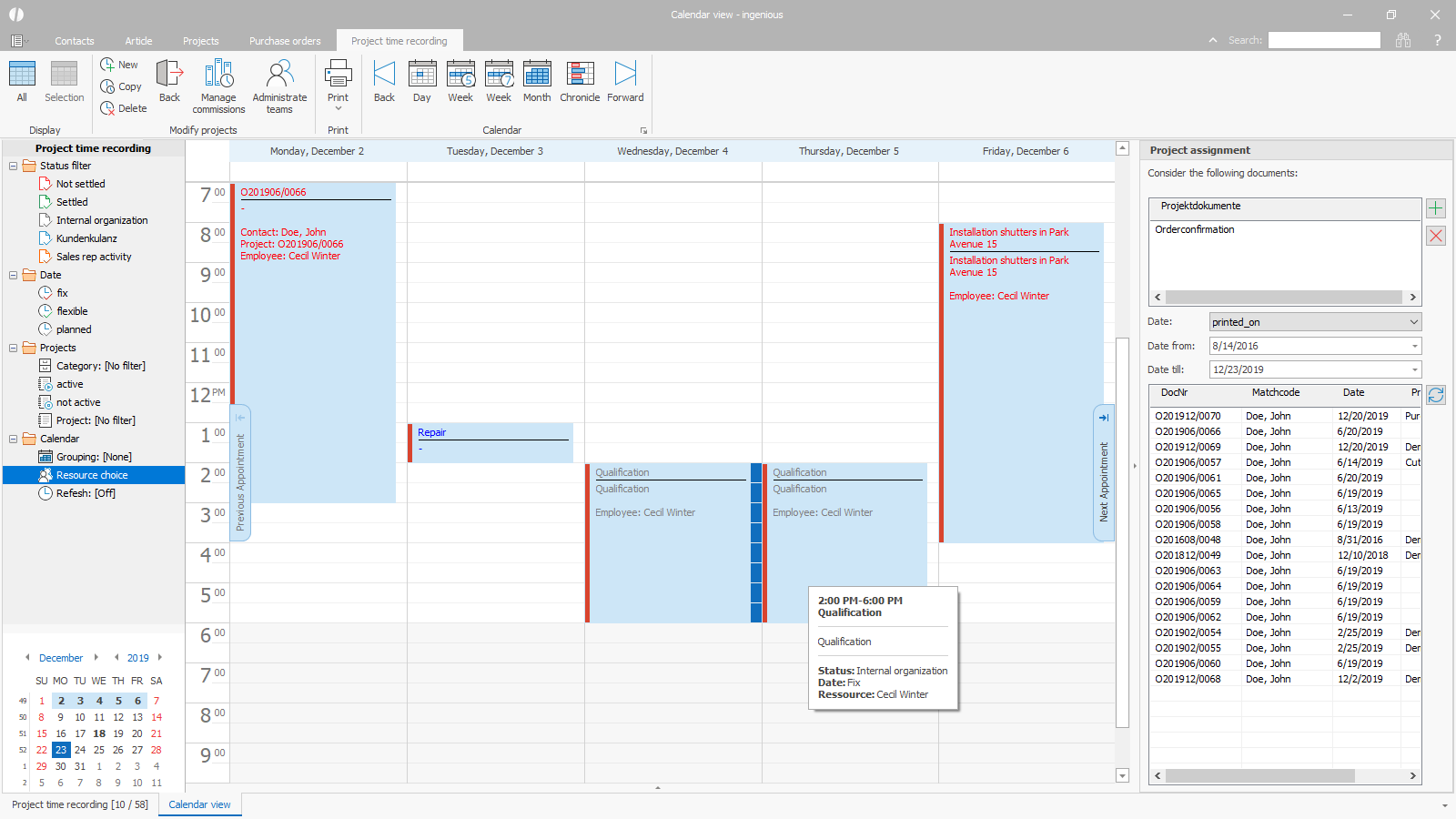 ingenious software project time scheduling