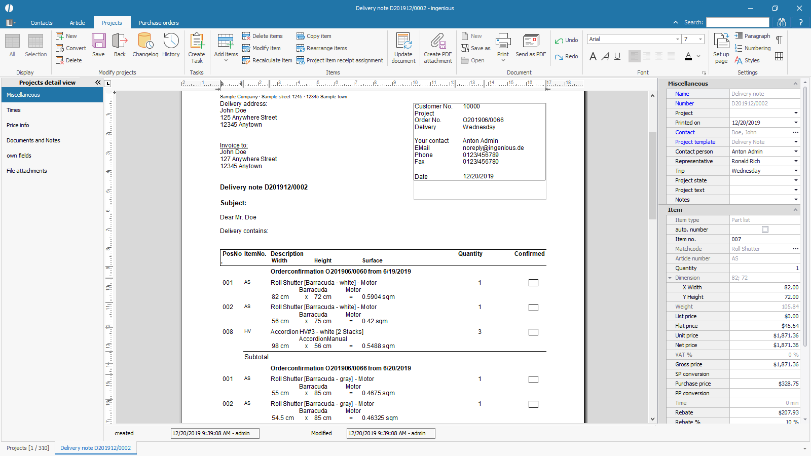 ingenious software projects detailview collected documents