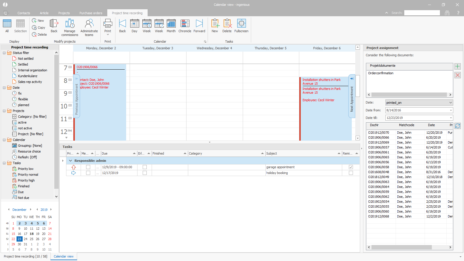 ingenious software task management